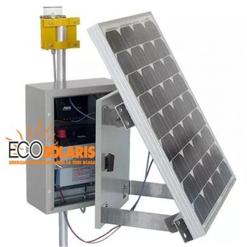 Baliza semnalizare fotovoltaica