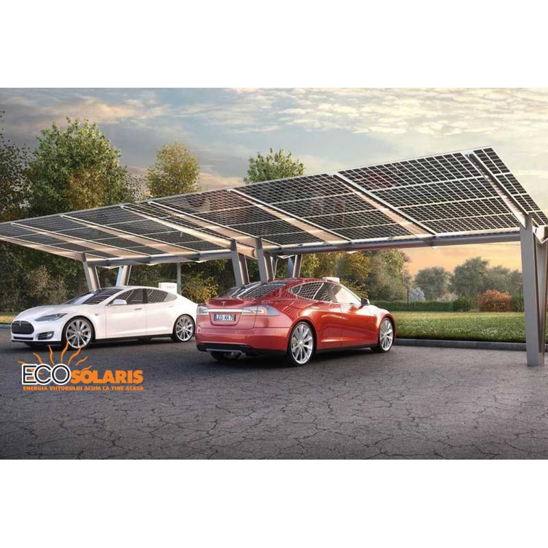 Sistem incarcare fotovoltaic pentru masina electrica cu prinza 22Kw trifazic - monofazata - Panouri Fotovoltaice