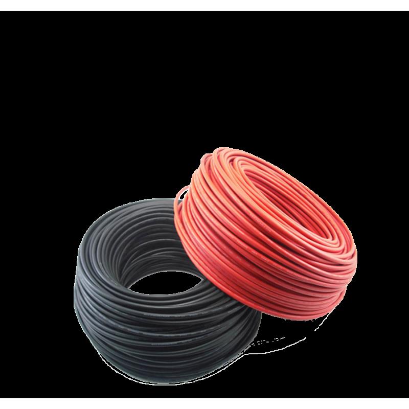 Set cablu solar 10ml 6mm negru / rosu cu mufe MC4 - Panouri Fotovoltaice