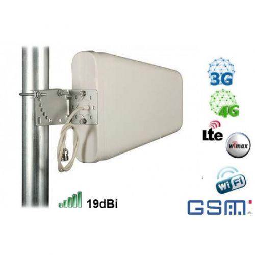 Antena Panou GSM 3G 4G 19dBi cablu 5m mufa SMA