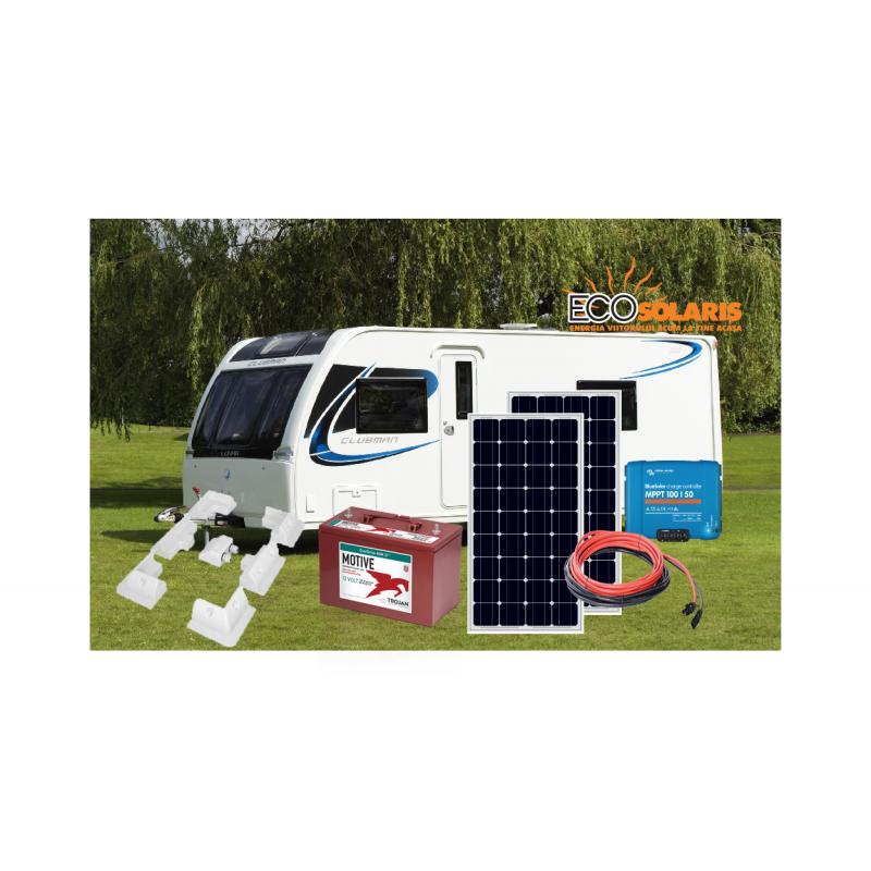 Sistem Fotovoltaic Rulota 12V 200Wp  Trojan AGM, Victron Energy SmartSolar - Panouri Fotovoltaice