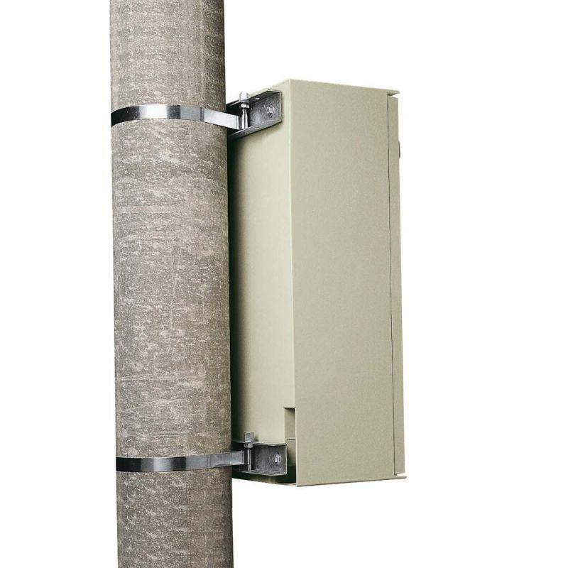 Suport metalic zincat cutie abs 60x50x20 pe stalp zincat - Panouri Fotovoltaice
