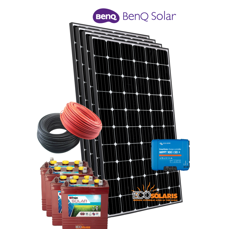 Sistem Fotovoltaic 24V Benq 1kWp Off Grid - Panouri Fotovoltaice