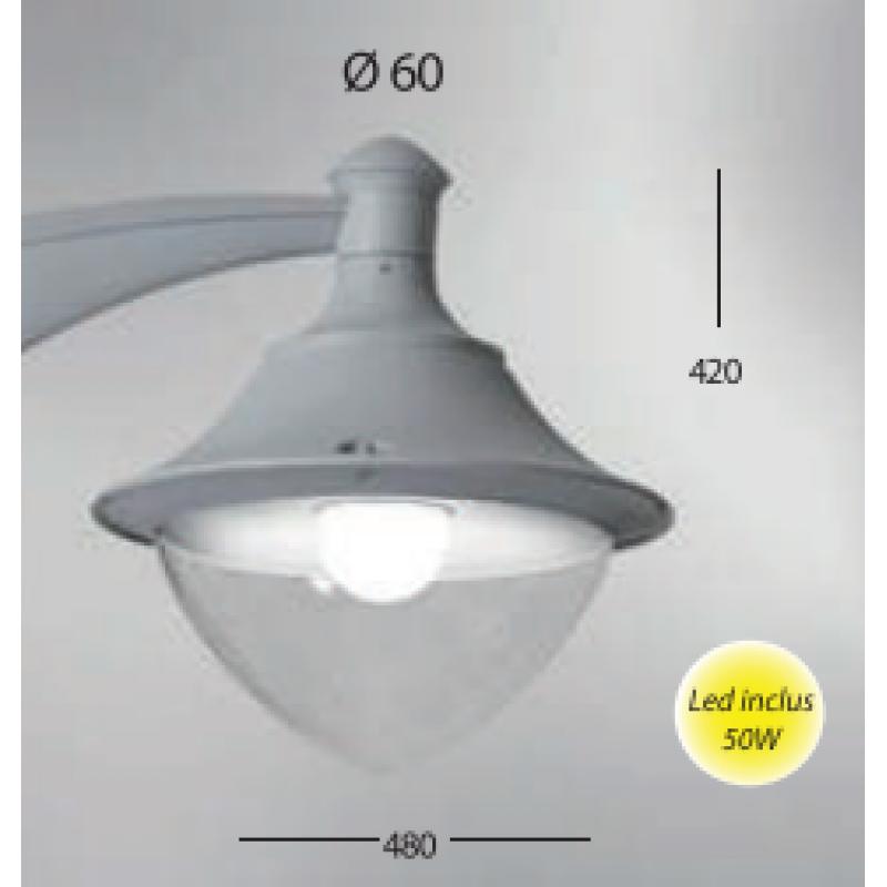 Corp de iluminat Vivi gri 50W - Panouri Fotovoltaice
