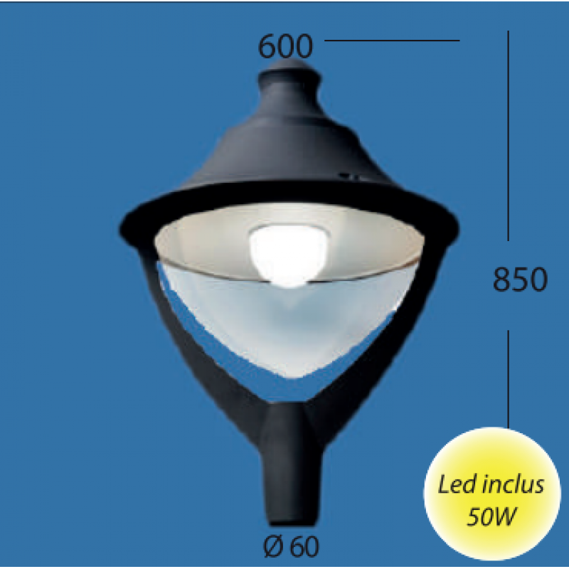 Corp de iluminat Beppe  50W - Panouri Fotovoltaice