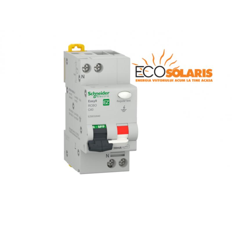Intrerupator diferential Schneider Electric 1P+N 4500 AC 30mA C 10A - Panouri Fotovoltaice