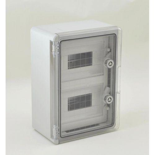 Panou Electric cu usa transparenta din Policarbonat  25x35x15  8x2 sigurante