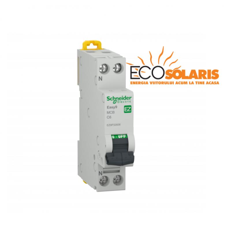 Intrerupator automat modular Schneider Electric 1P+N 4500 C 10A - Panouri Fotovoltaice