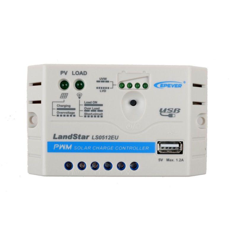 Controler incarcare panou solar LS0512E  12V 5A - Panouri Fotovoltaice