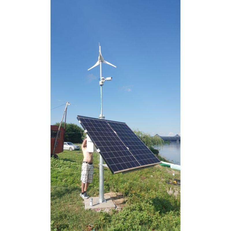 Sistem fixare panou fotovoltaic 2X300W pe stalp metalic galvanizat - Panouri Fotovoltaice