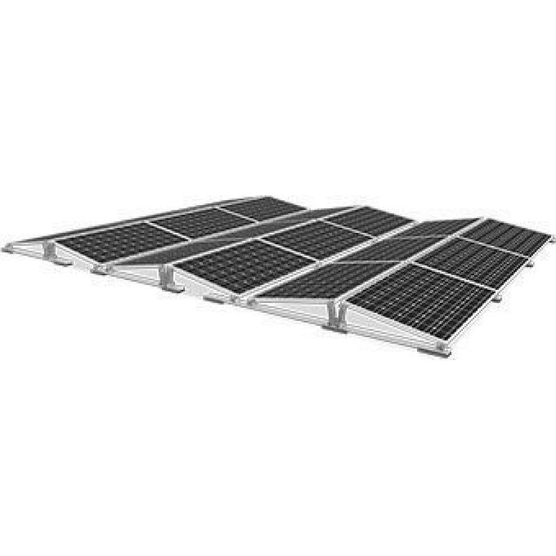 Sistem fixare acoperis plat D-Dome  inclinatie 10 grade - Panouri Fotovoltaice