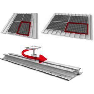 Sistem fixare panouri fotovoltaice k2 mini Rail tabla undulata - Panouri Fotovoltaice