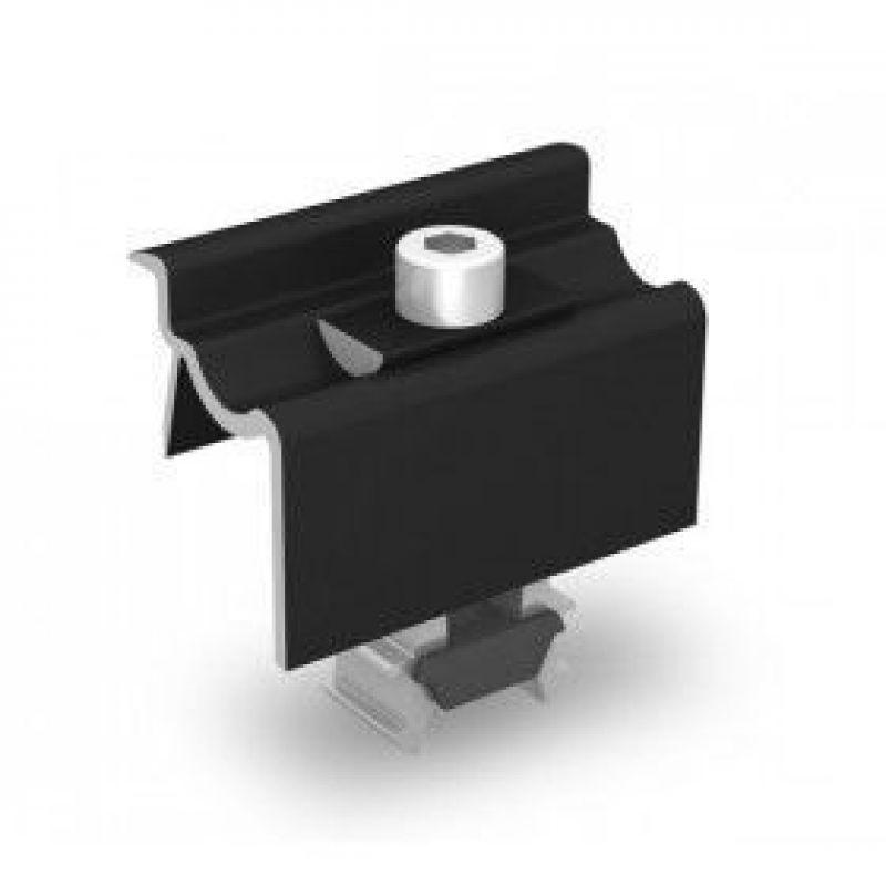 Clema universala panouri fotovoltaice finala K2 negru - Panouri Fotovoltaice