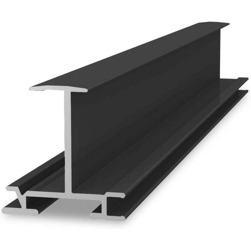 Profil aluminiu K2 510cm InsertionRail 40 negru - Panouri Fotovoltaice