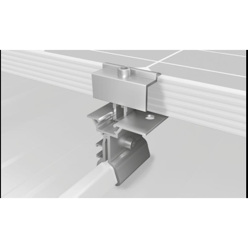 Sistem fixare panouri fotovoltaice k2 acoperis inclinat tabla faltuita - Panouri Fotovoltaice