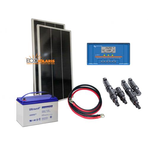 Kit solar fotovoltaic 120W/12V - 600Wh/zi - Panouri Fotovoltaice