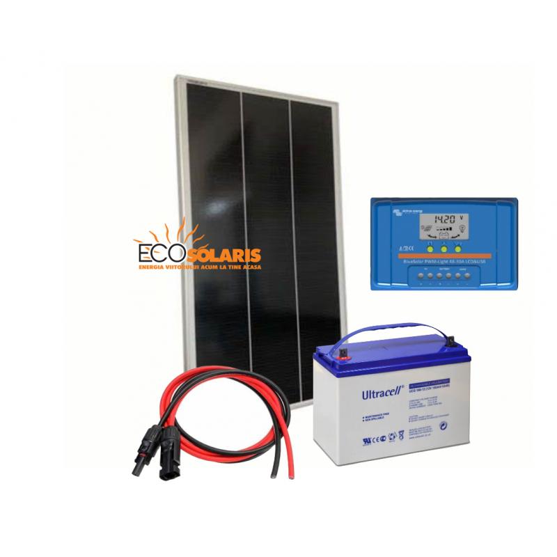 Kit solar fotovoltaic 150W/12V - 750Wh/zi - Panouri Fotovoltaice