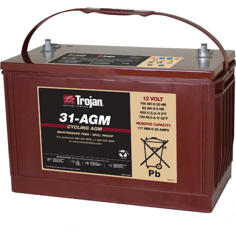 Baterie Trojan 31-AGM 12V - Panouri Fotovoltaice