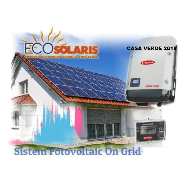 Pachet Fotovoltaic 3Kw Hibrid Fronius Casa Verde Plus Trifazic - Panouri Fotovoltaice