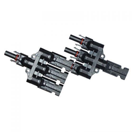 Pereche conectori fotovoltaice 3+1 mc4 pentru paralel