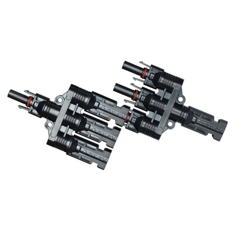 Pereche conectori fotovoltaice 3+1 mc4 pentru paralel - Panouri Fotovoltaice