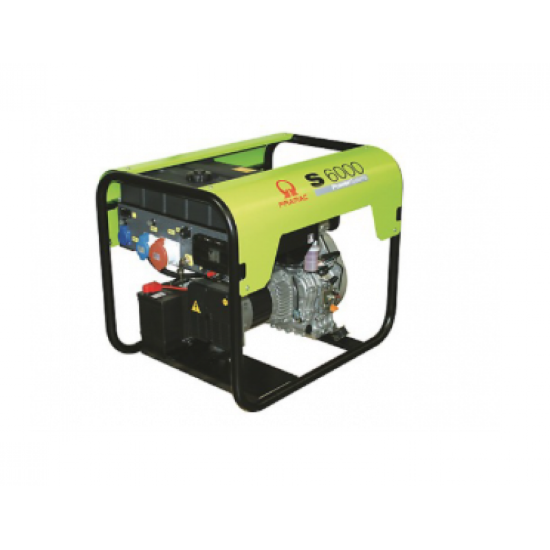 Generator curent electric (grup electrogen) Pramac S6000, motorizare Yanmar, 5.6 kVA, diesel, trifazat - Panouri Fotovoltaice
