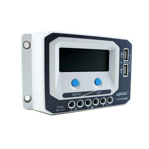 Controler solar 12-24V PWM 10A VS1024AU - Panouri Fotovoltaice