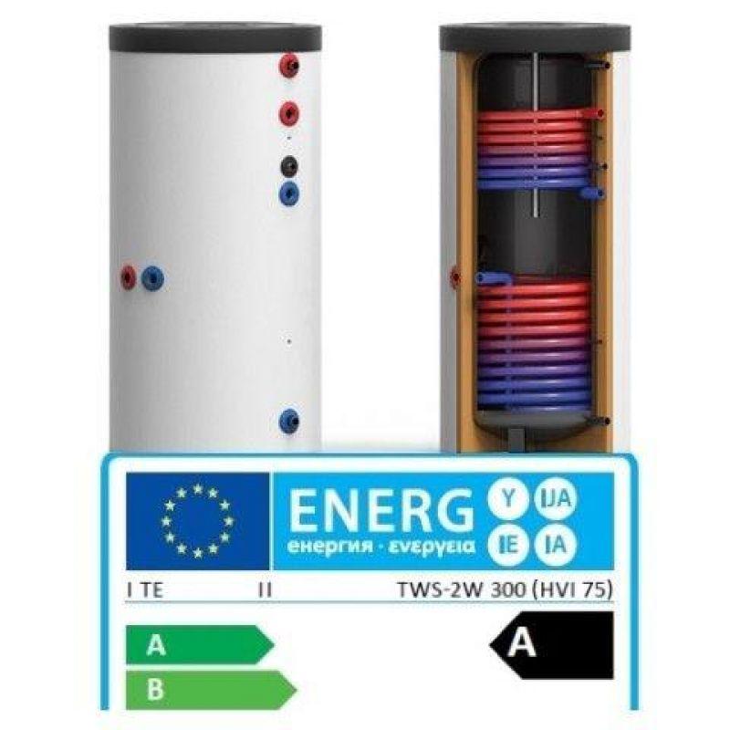Boiler Solar Bivalent 300 Litri clasa de eficienta A - Panouri Fotovoltaice