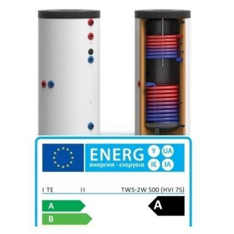 Boiler Solar Bivalent 500 Litri Clasa A - Panouri Fotovoltaice