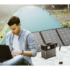 Baterie Solara Portabila Invertor Sinus 300W Baterie Lithium-Ion Charger solar si auto