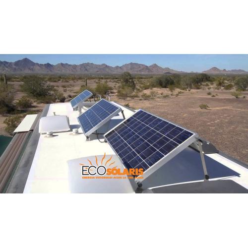 Sistem fixare panouri fotovoltaice rulota cu inclinatie reglabila