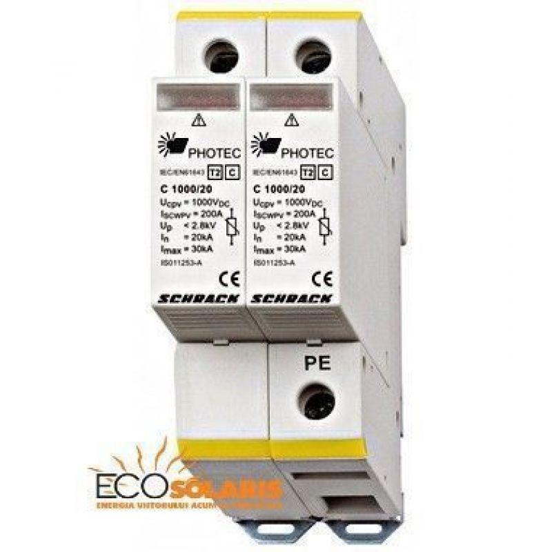 Descarcator Fotovoltaice Schrack Photech C 1000V 20kA - Panouri Fotovoltaice