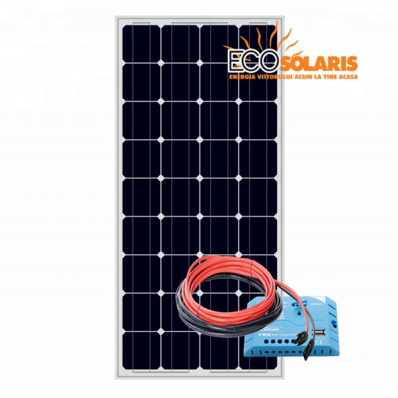 Set Panou fotovoltaic 100W monocristalin / Controler solar pwm EPSolar 12/24V 10A - Panouri Fotovoltaice