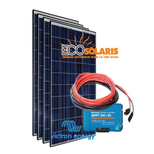 Set Panou fotovoltaic 24V 1kWp Policristalin - Controler solar MPPT Victron SmartSolar 100/50