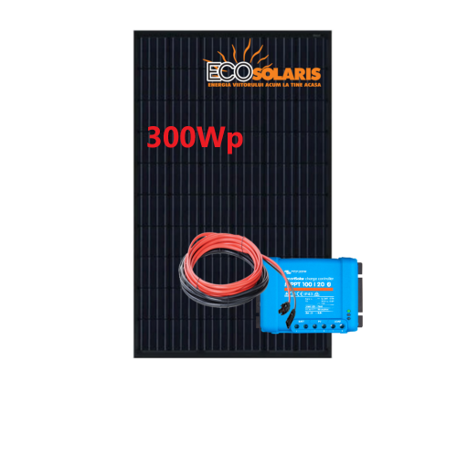 Set Panou fotovoltaic 300W monocristalin - Controler solar MPPT Victron 100/20