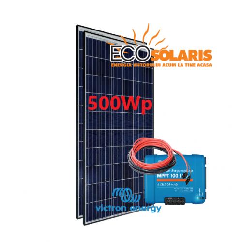Set Panou fotovoltaic 24V 500W Policristalin - Controler solar MPPT Victron SmartSolar 100/20