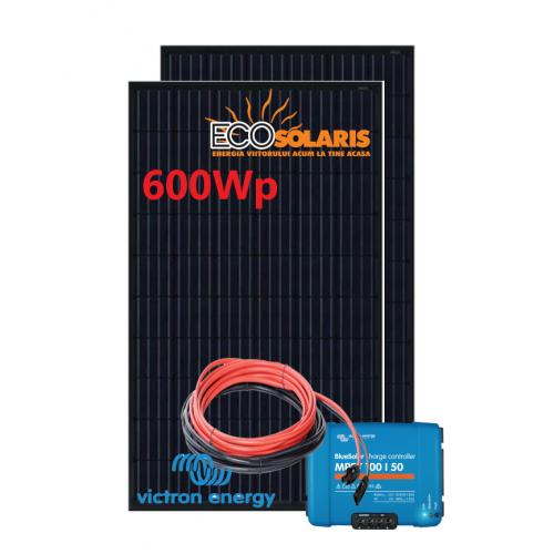 Set Panou fotovoltaic 24V 600W monocristalin - Controler solar MPPT Victron SmartSolar 100/50