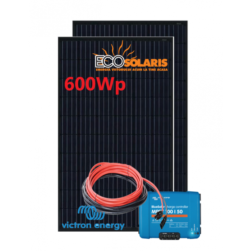 Set Panou fotovoltaic 24V 600W monocristalin - Controler solar MPPT Victron 100/50 - Panouri Fotovoltaice