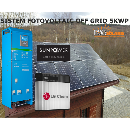 Sistem Fotovoltaic Off Grid 5kWp SunPower MaxEon 3