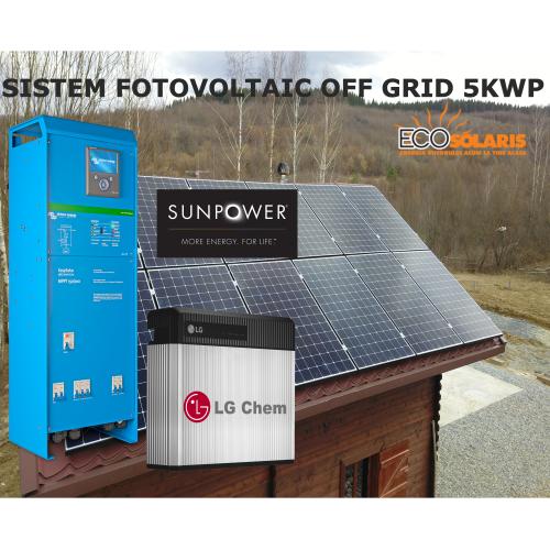 Sistem Fotovoltaic Off Grid 5kWp SunPower MaxEon 3 - Panouri Fotovoltaice