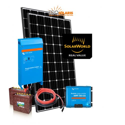 Set Panouri Fotovoltaice 580W SolarWorld Mono Controler MPPT Vicron - baterii Trojan 12V 255Ah