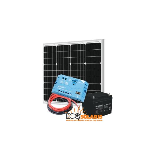 Set Panou Fotovoltaic 50W monocristalin