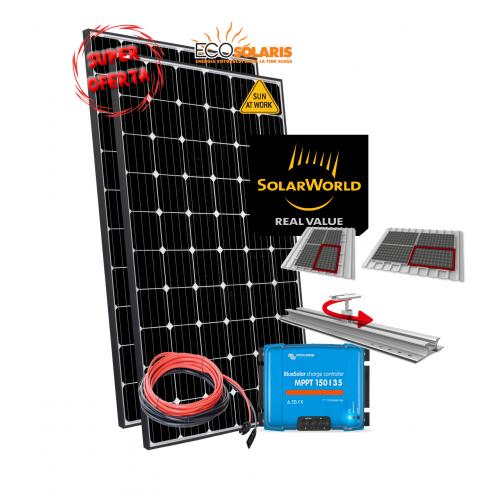 Set Panouri Fotovoltaice 580W SolarWorld Mono Controler MPPT Vicron Energy 35A