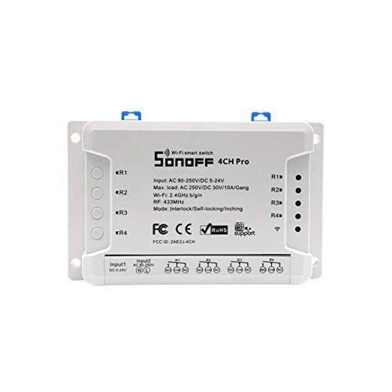 Sonoff 4CH - PRO  R2 Intrerupator wireless cu 4 canale - Panouri Fotovoltaice
