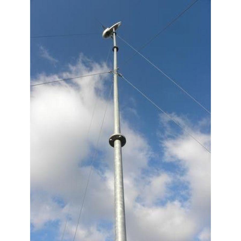 Stalp turbina eoliana zincat cu flansa - tronson 6 m - Panouri Fotovoltaice