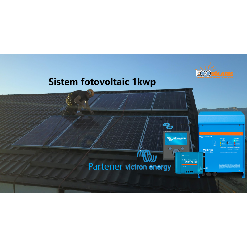 Sistem fotovoltaic 1 kWp 24V Off Grid Victron Energy - Panouri Fotovoltaice