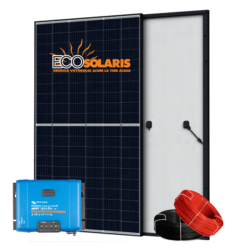 Set Panou fotovoltaic 24V 1kWp Mono - Controler solar MPPT Victron SmartSolar 150/45 - Panouri Fotovoltaice