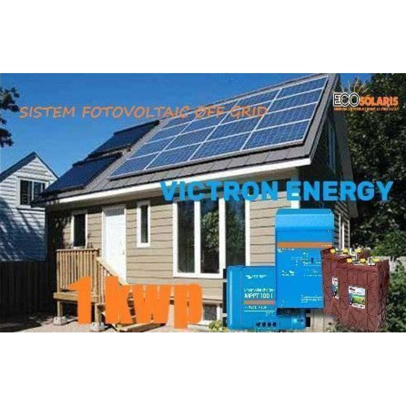 Sistem Fotovoltaic 1 kW off grid Victron Energy  cu baterii Trojan - Panouri Fotovoltaice