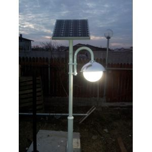 Stalp fotovoltaic cu lampa led 7w - Panouri Fotovoltaice
