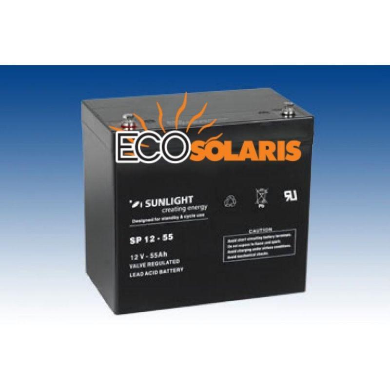 Baterie Sunlight 12V 55Ah - Panouri Fotovoltaice